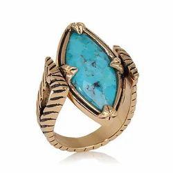 Studio Barse Reversible Turquoise, Gemstone Bronze Ring