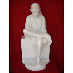 White Marble Sai Baba Moorti