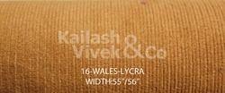 16 Wale Lycra Corduroy Fabric