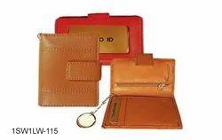 Tan Leather Unisex Wallets