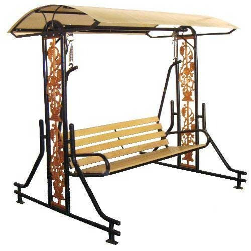 High Quality Black And Cast Iron Grill Garden Swing