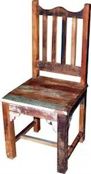 Recycle Wood Chair Colorful Retro Furniture