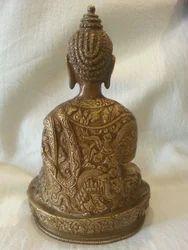 Buddhism Craft  Brass Buddha Statue with Beautiful Carving
