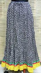 Block Ladies Cotton Long Skirts