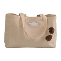 """Norquest Brands Natural Cotton Canvas Carry Bag, Size/dimension: 16"""" X 12"""" + 5"""" Ag"""