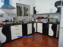 Kitchen Rubber Wood Dual Colors Shutters