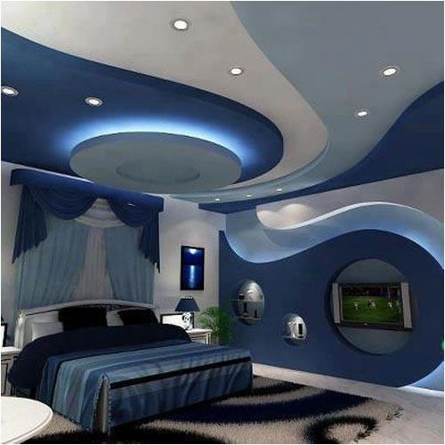 False Ceiling Jagdambe Interiors Manufacturer In Malviya Nagar. Moon  Pendant Living Fancy Ceiling Designs ...