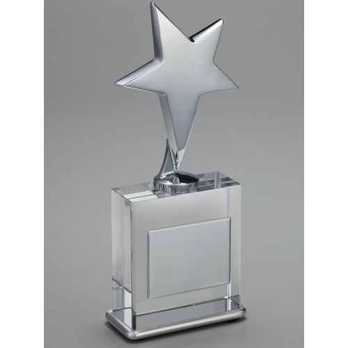 Silver Crystal Trophy Ki Trophiyan