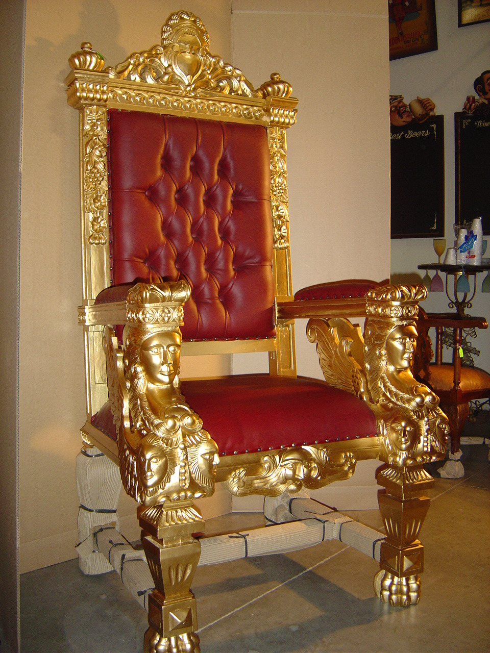 Designer Chairs Golden Chair Manufacturer From New Delhi