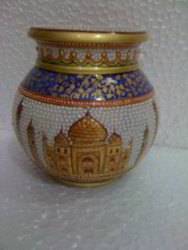 Marble Lota Pot 5 inch
