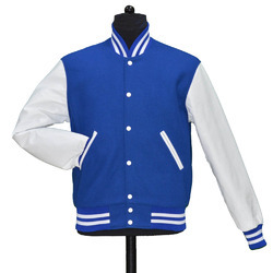 Bright Royal White Solid Varsity