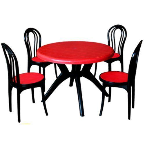 Plastic Round Table Chairs Uma Plastics Limited Id 6219669862