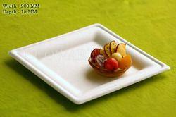 Biodegradable baggase Square Plate 8