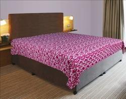 Kantha Quilt Ikat Pink Gudri Handmade Rali Bed Cover