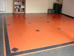 Orange Color Vinyl Flooring
