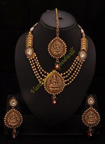 Wedding Indian Temple Jewellery Necklaces Set