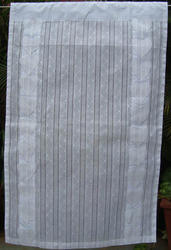 White Curtain With Applique Work