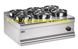 6 Round Compartment Bain Marie