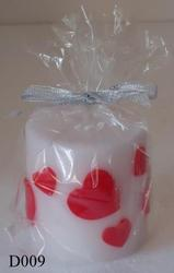 Engraved Heart Wedding Candle D009