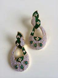 Blue Moti Earrings