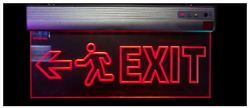 Exit Sign Edge Lit LED Frame