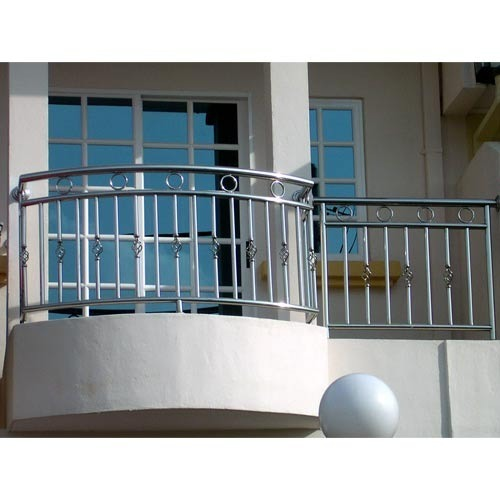 Stainless steel railing stainless steel balcony railing for Design of balcony railings in india