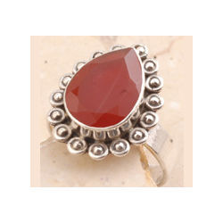 Red Onyx Ring in 925 Sterling Silver
