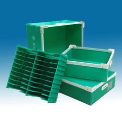 Green Rectangular PP Corrugated Packaging Boxes