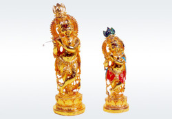 Silver Lord Krishna Statue
