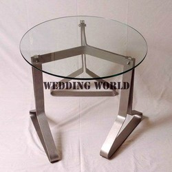 Standard white Stainless Steel Round Table, for Hotel