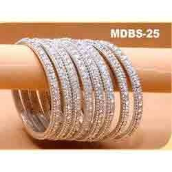 Silver Jarkan Wedding Bangles