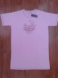 Ladies Printed Cotton T shirt Long