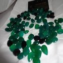 Green & Black Onyx Cut Stone