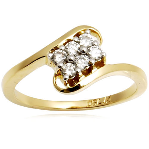 Simple Gold Diamond Ring at Rs piece Diamond Rings