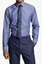 Slim Fit Chambray Dress Shirt