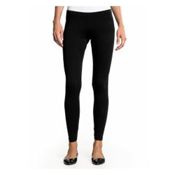 Churidar Plain Black Girls Leggings