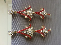 Red Lead Imitation Earring