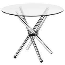 Exceptional Modern Round Glass Top Table