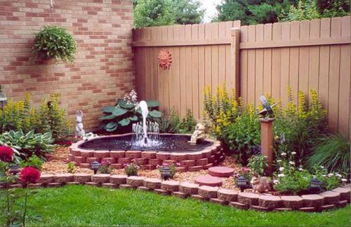 Merveilleux Outdoor Terrace Garden Water Fall