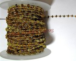 Hessonite Beaded Chain