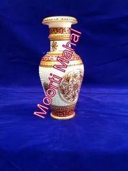 Printed Flower Marble Vase