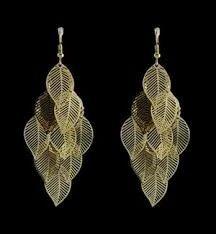 Golden Leaf Earings