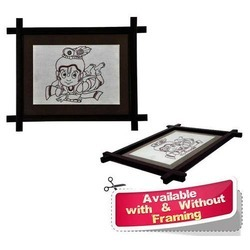 Square Krishna Theme - Copper Wire Wall Hangings Home Decor Wall Mural, For Decoration