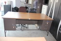 Steel Table with Wooden Top