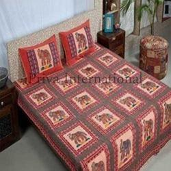 Applique Patch Work Elephant Bedsheets