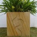 Hand Carved Sandstone Planter