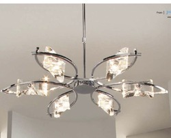 Mantra Crystal Chandelier Krome