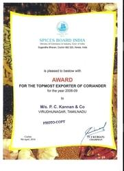 Top Most Exporter Certificate