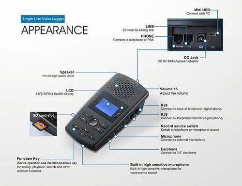 Voice Logger- Telephone Call Recorder - Landline Telephone