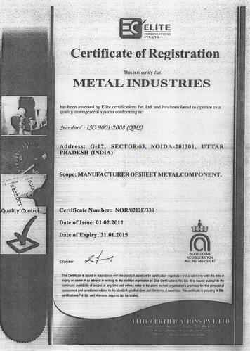 Metal Industries - Manufacturer from Sector 63, Noida, India